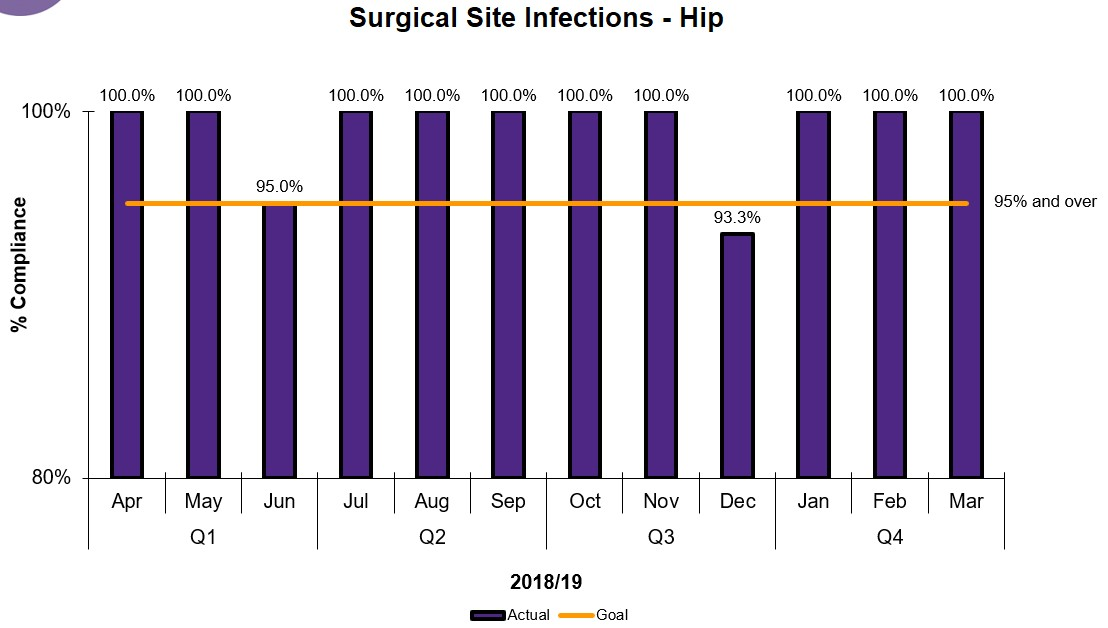 SUrgical Site Infections (hip) at BCHS