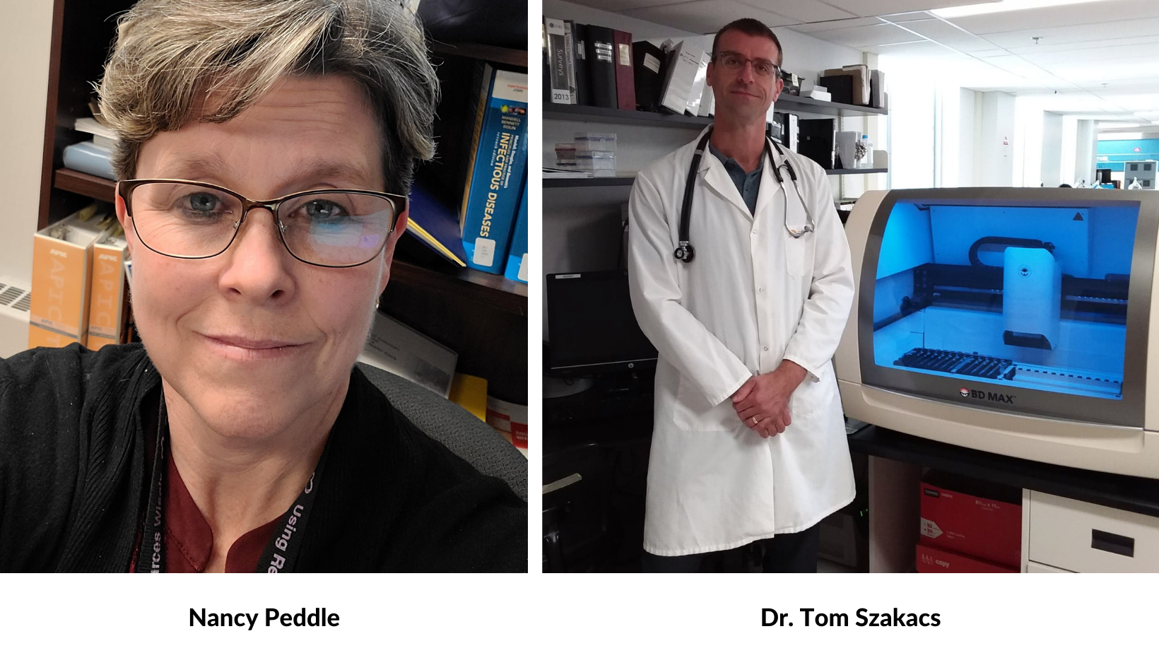 Nancy Peddle and Dr. Tom Szakacs